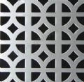 Ohio Decorative Grille Silver Anodised Aluminium Sheet 1000mm x 660mm x 1mm